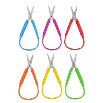 "Mini Loop Scissors for Teens and Adults 5.5"" Inches (6-Pack)"