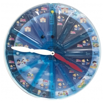 Sensory Clock Gel Pad for Learning Time and Fine Motor Play