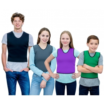 Deep Pressure Compression Sensory Vest: Comfortable Breathable, Form-Fitting for Kids & Adults